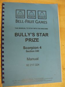Bully`s Star Prize - Scorpion 4 Manual